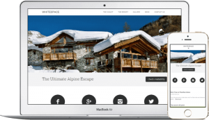 Chalet Engine website design for ski rental homes