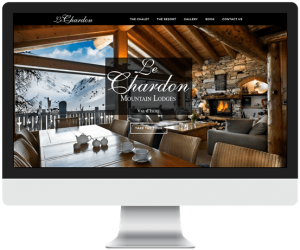 Shi chalet holiday rental website design