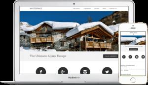 Chalet Engine website design for ski rental homes
