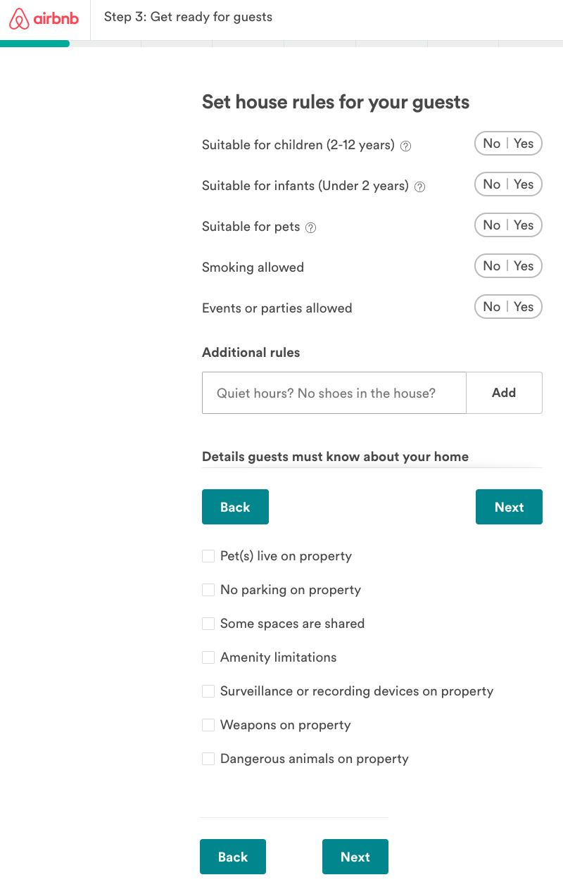 Add you guest rules on Airbnb listing