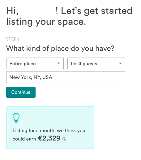 Start listing your property on airbnb