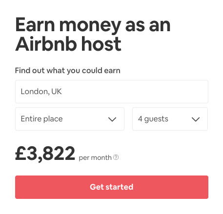 Airbnb Vacation Rental Calculator